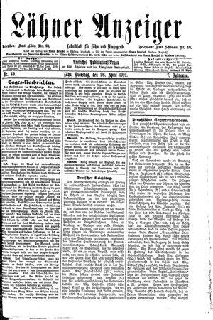 Lähner Anzeiger vom 26.04.1910