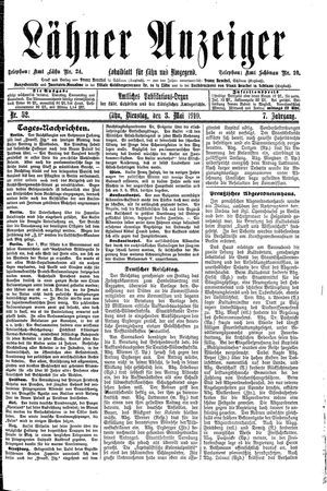 Lähner Anzeiger on May 3, 1910