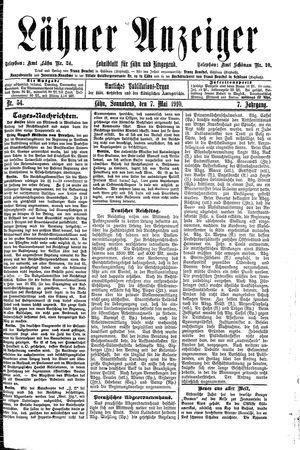 Lähner Anzeiger vom 07.05.1910