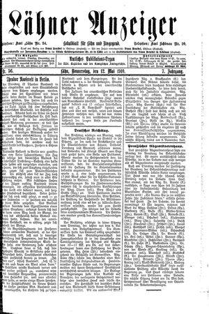 Lähner Anzeiger vom 12.05.1910