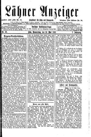 Lähner Anzeiger vom 19.05.1910