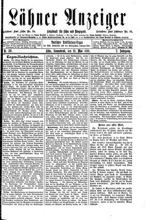 Lähner Anzeiger vom 21.05.1910
