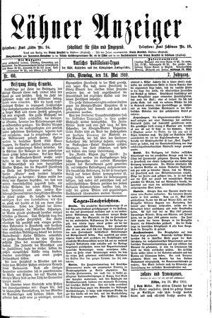 Lähner Anzeiger vom 24.05.1910