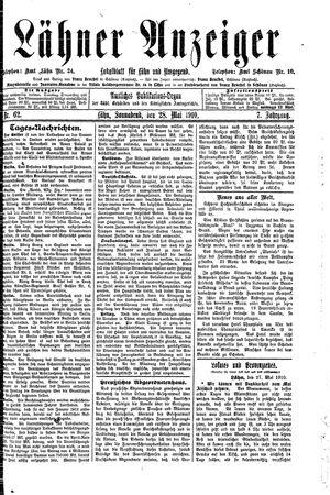 Lähner Anzeiger vom 28.05.1910