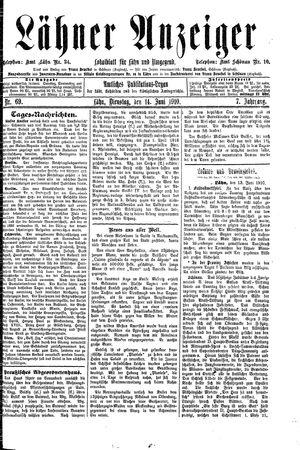 Lähner Anzeiger vom 14.06.1910
