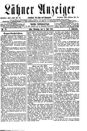 Lähner Anzeiger vom 05.07.1910