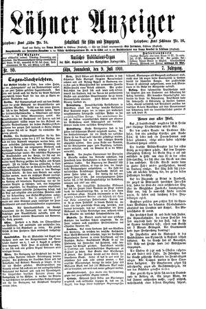 Lähner Anzeiger vom 09.07.1910