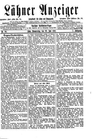 Lähner Anzeiger vom 28.07.1910