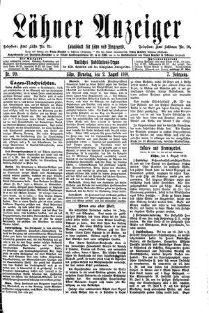 Lähner Anzeiger vom 02.08.1910