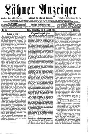 Lähner Anzeiger on Aug 4, 1910