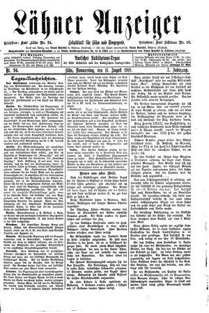 Lähner Anzeiger vom 11.08.1910