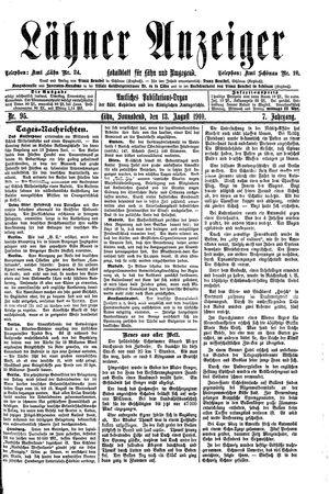 Lähner Anzeiger vom 13.08.1910