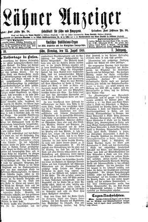 Lähner Anzeiger vom 23.08.1910