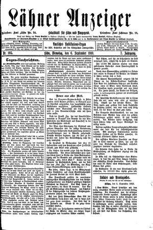Lähner Anzeiger vom 06.09.1910