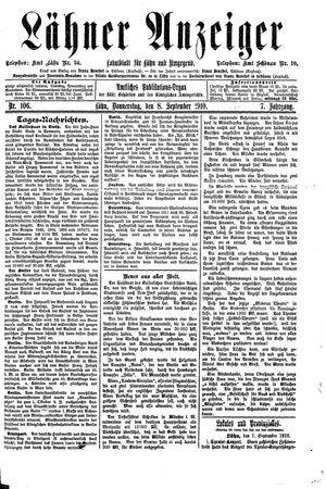 Lähner Anzeiger vom 08.09.1910