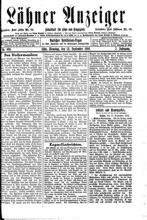 Lähner Anzeiger vom 13.09.1910