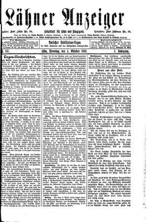 Lähner Anzeiger on Oct 4, 1910