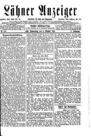 Lähner Anzeiger on Oct 6, 1910