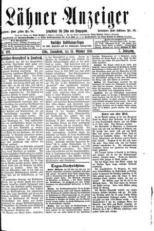 Lähner Anzeiger vom 15.10.1910