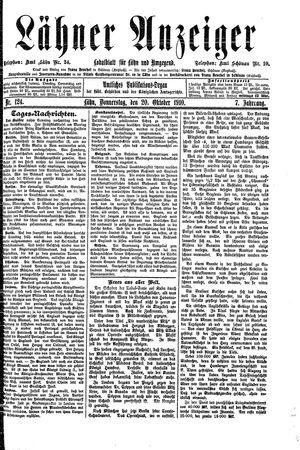 Lähner Anzeiger vom 20.10.1910