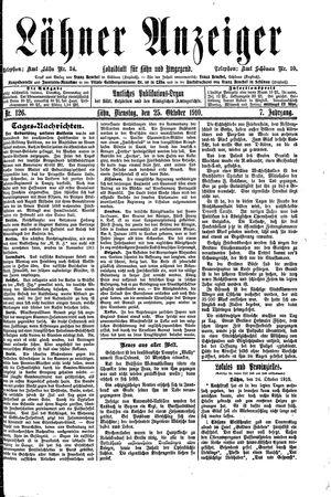 Lähner Anzeiger vom 25.10.1910