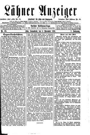 Lähner Anzeiger vom 05.11.1910