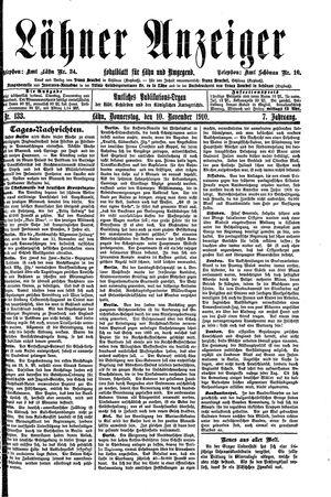 Lähner Anzeiger vom 10.11.1910
