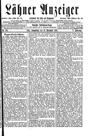 Lähner Anzeiger vom 12.11.1910