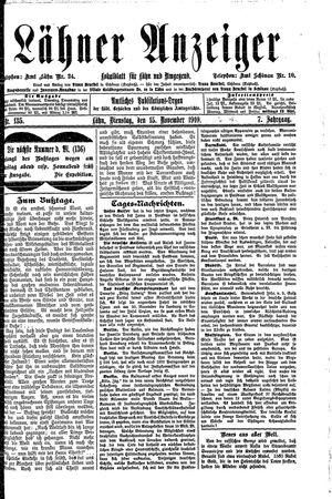 Lähner Anzeiger vom 15.11.1910