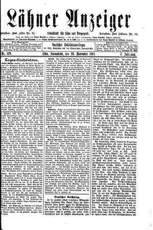 Lähner Anzeiger on Nov 26, 1910