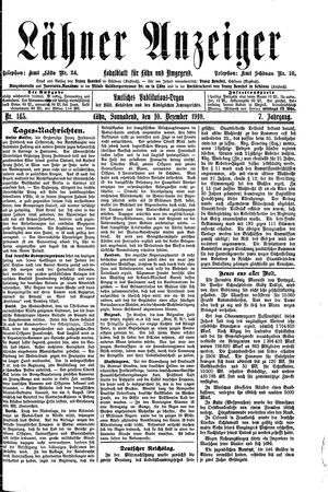 Lähner Anzeiger vom 10.12.1910