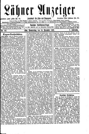 Lähner Anzeiger on Dec 15, 1910