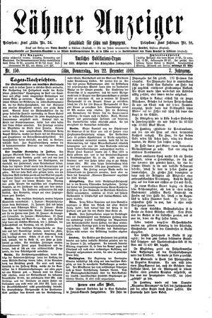 Lähner Anzeiger on Dec 22, 1910