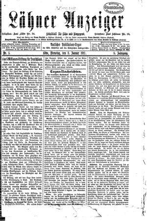 Lähner Anzeiger vom 03.01.1911