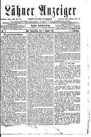 Lähner Anzeiger on Jan 5, 1911