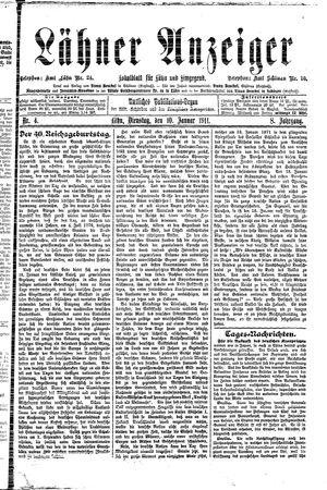 Lähner Anzeiger vom 10.01.1911