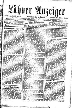 Lähner Anzeiger vom 12.01.1911