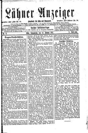 Lähner Anzeiger vom 14.01.1911