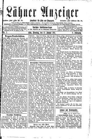 Lähner Anzeiger vom 17.01.1911