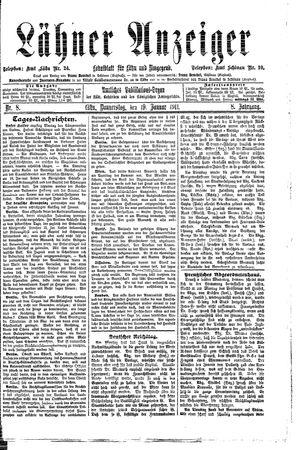 Lähner Anzeiger vom 19.01.1911