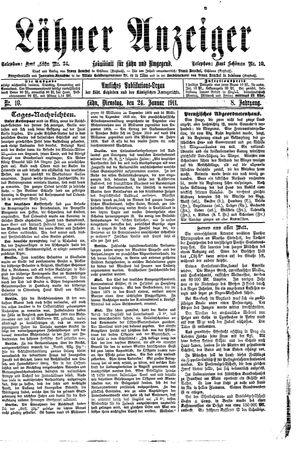 Lähner Anzeiger vom 24.01.1911