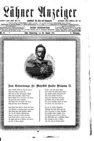 Lähner Anzeiger vom 26.01.1911