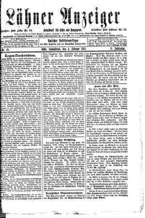 Lähner Anzeiger vom 04.02.1911