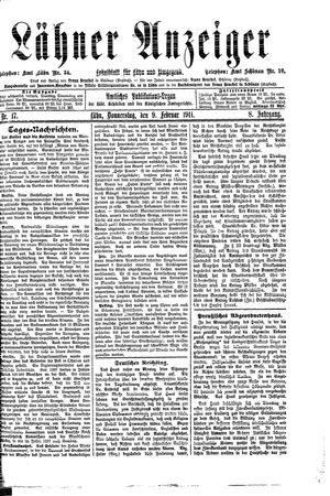 Lähner Anzeiger vom 09.02.1911