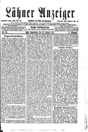 Lähner Anzeiger vom 23.02.1911