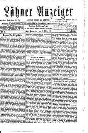 Lähner Anzeiger vom 02.03.1911