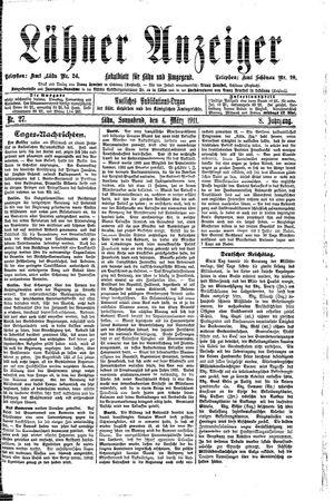 Lähner Anzeiger on Mar 4, 1911