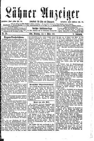 Lähner Anzeiger vom 07.03.1911