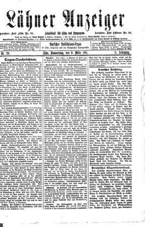 Lähner Anzeiger vom 09.03.1911