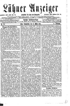 Lähner Anzeiger vom 11.03.1911